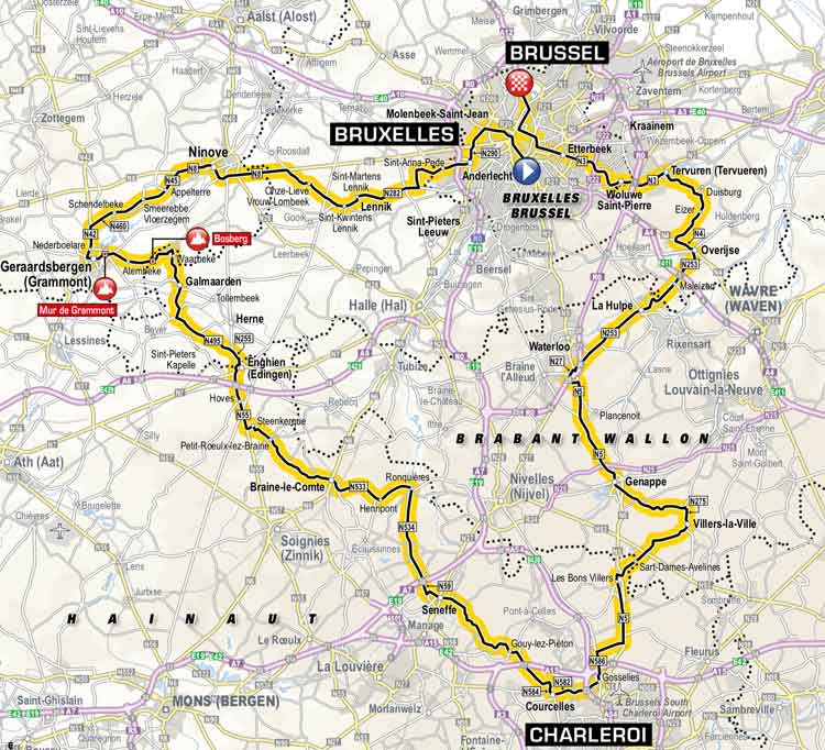 Map Of The France.Tour De France 2019 Route Stage By Stage Guide Freewheeling France