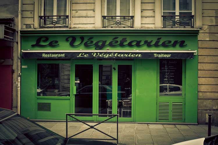 Vegetarian restaurant in Paris