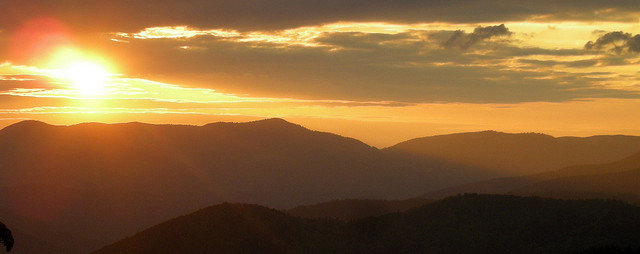 The sun sets over the Vosges