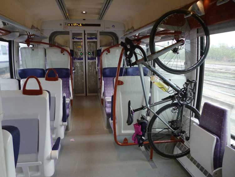 Bike on a TER train