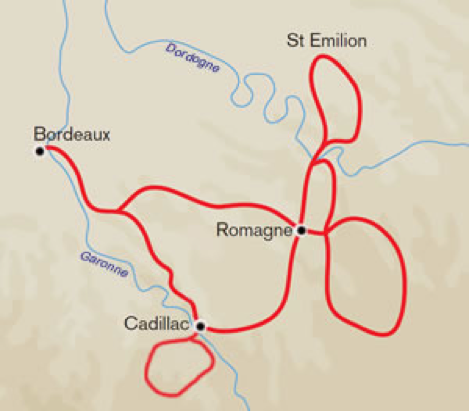 Inntravel Bordeaux and St Emilion map