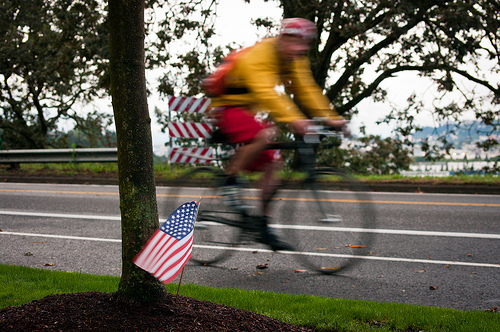 Cycling in America. Photo: sciencesque
