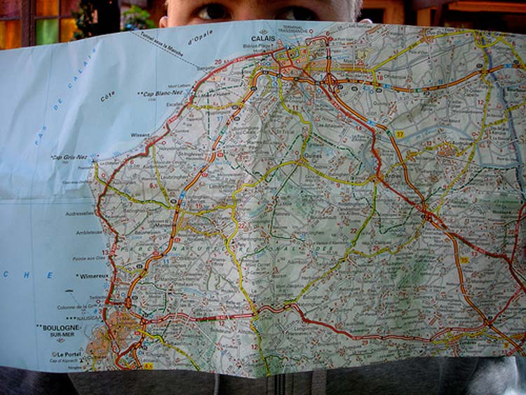 cycling map france