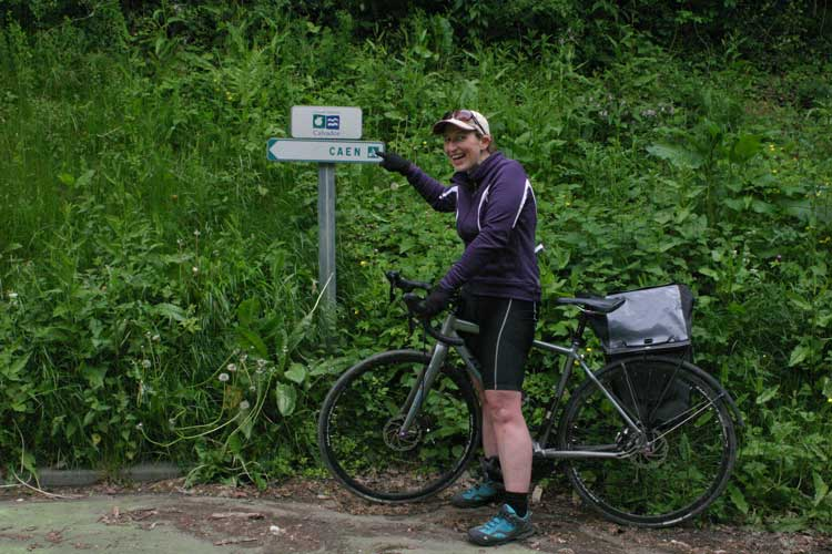 cycling to caen