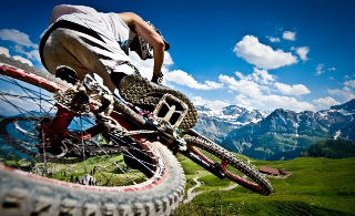 Downhill mountain biking in France