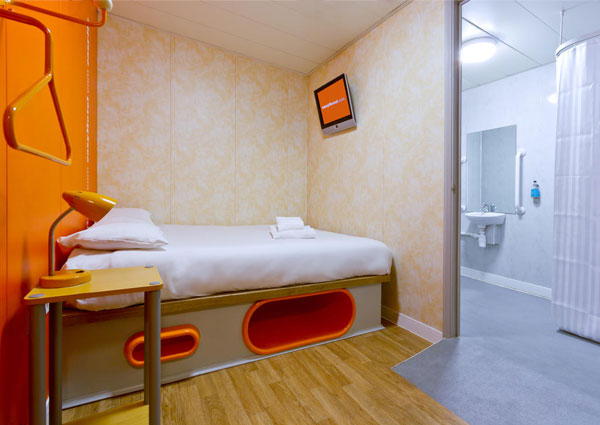 Bedroom at easyHotel Luton