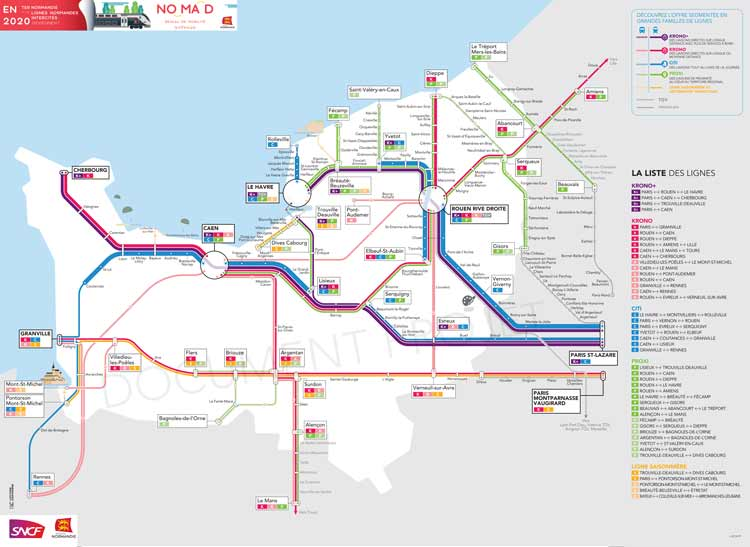 Normandy train map