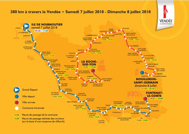 Map Of France Vendee Region.2018 Tour De France Route Freewheeling France