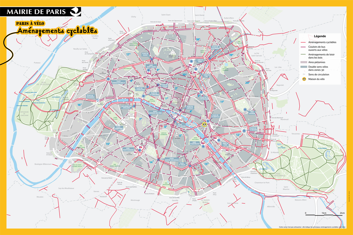 Great Bikes Routes In Paris Freewheeling France - Us bike route 1 map