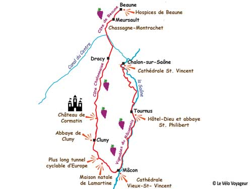Secrets of Burgundy by bike