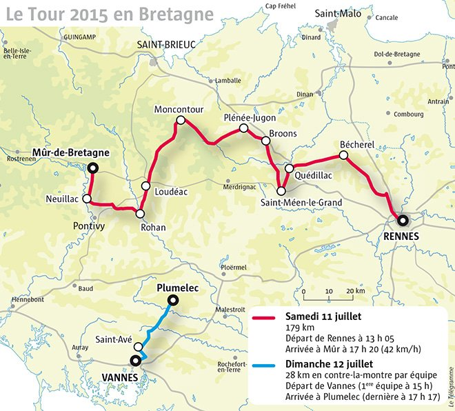 Tour de france 2015 stage 8 rennes to m r de bretagne for Auberge grand maison mur de bretagne