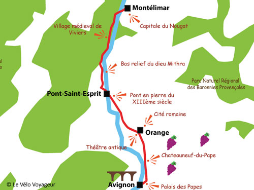 4-day cycling tour on ViaRhôna from Montélimar to Avignon